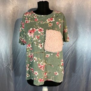 Zara women's floral t-shirt